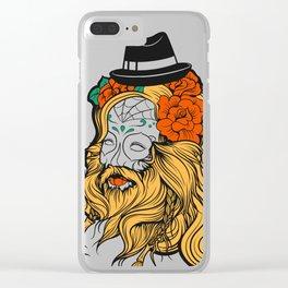Bearded Women Girl Clear iPhone Case