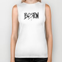 boston Biker Tanks featuring Boston by Talula Christian