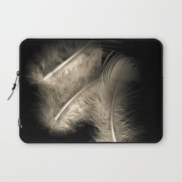 Three feathers in black and white Laptop Sleeve