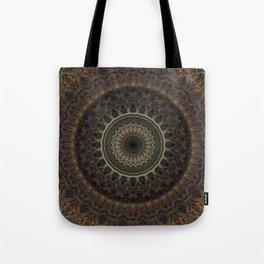 Mandala in brown tones Tote Bag