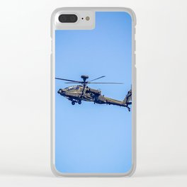 Apache Helicopter. Clear iPhone Case