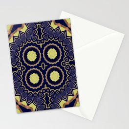 Basically Yellow Pattern 8 Stationery Cards
