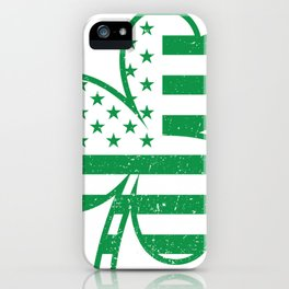 Irish American Flag Shamrock St Patricks Day Gift iPhone Case