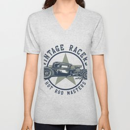 Hot Rod Racers Unisex V-Neck