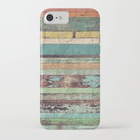 wooden iPhone & iPod Cases featuring Wooden Vintage  by Patterns and Textures