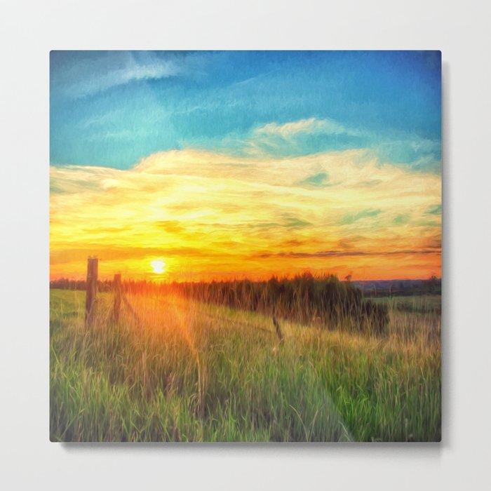Paint Me A Sunset  Metal Print