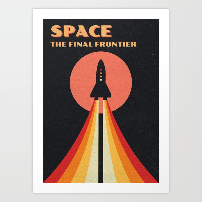 Discover the motif SPACE - THE FINAL FRONTIER by Andreas Lie as a print at TOPPOSTER