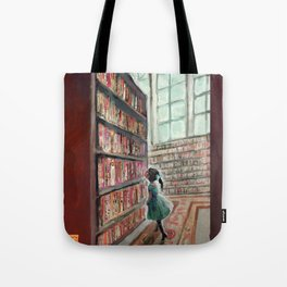 Exploring the Library Tote Bag
