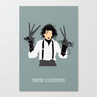 edward scissorhands Canvas Prints featuring edward scissorhands by Live It Up
