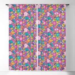 Floral Brights Blackout Curtain