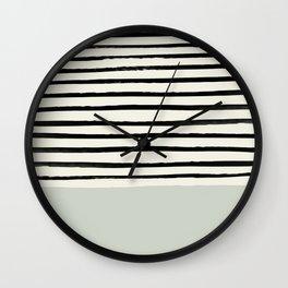 Coastal Breeze x Stripes Wall Clock