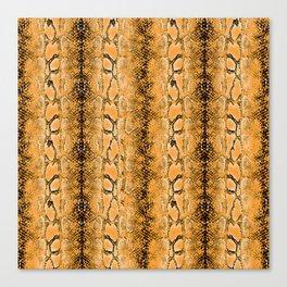 golden snake skin Canvas Print