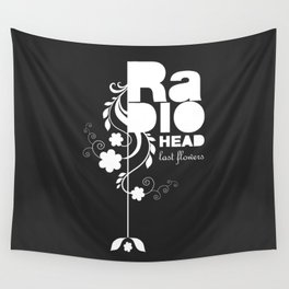 Radiohead song - Last flowers illustration white Wall Tapestry