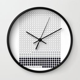 Number 14: Gray (Jackson Pollock) color-sorted Wall Clock
