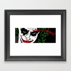 Why So Serious Framed Art Print