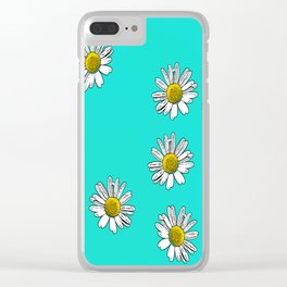 Daisies drawn Clear iPhone Case