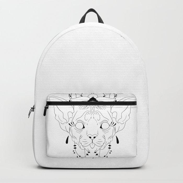 Mandala Sphynx Backpack