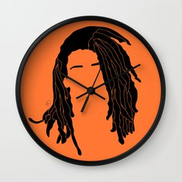 light orange Wall Clock