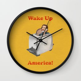 Wake Up Call Wall Clock