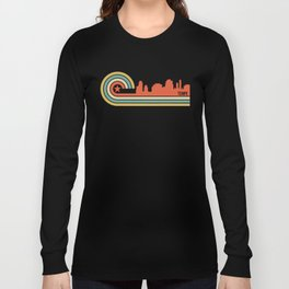 Retro Tempe Arizona Skyline Long Sleeve T-shirt