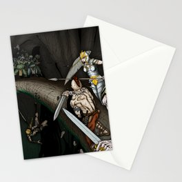 Party Crossing the Stone Bridge Stationery Cards