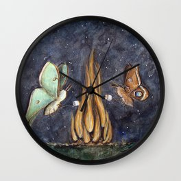 Moth Mallows Wall Clock