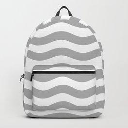 Wavy Stripes Patten Gray Backpack