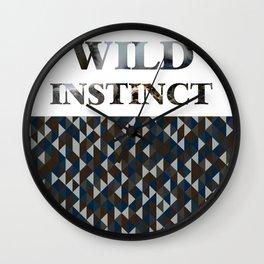 wild instinct vulture Wall Clock