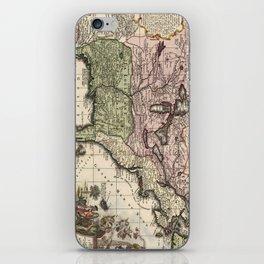 Vintage Map of America (1720) iPhone Skin