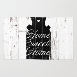 Home Sweet Home Rustic Jug Rug