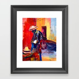 Hats for sale Framed Art Print