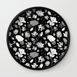 Fanciful Garden - Fragments Wall Clock