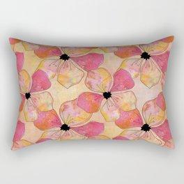 Floral watercolor pattern in pastel tones Rectangular Pillow