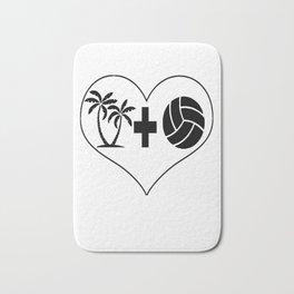 Beach Volleyball Love Bath Mat
