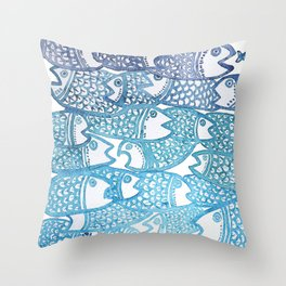 Peixinho azul Throw Pillow