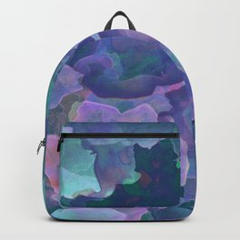 Blue and teal abstract watercolor Backpack