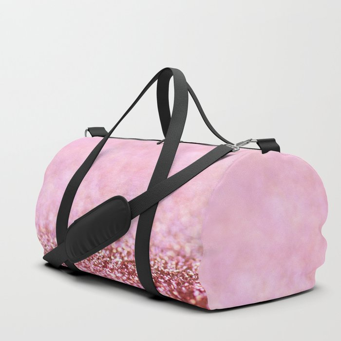 Pink Sparkle shiny glitter effect print - Sparkle Valentine Backdrop Duffle Bag