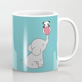 Kawaii Cute Elephant And Panda Coffee Mug