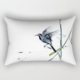 Little Bird (Wagtail - Eurasian Songbird) by The Reeds #decor #society6 #buyart Rectangular Pillow