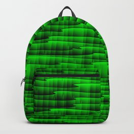 Square cross green lines on a dark tree. Backpack
