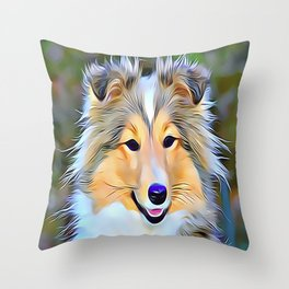 The Shetland Sheepdog Throw Pillow