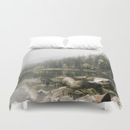 Pale lake - landscape photography Duvet Cover
