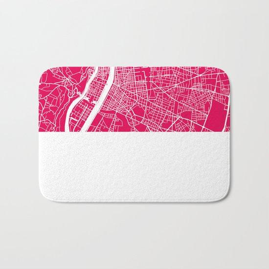 Rome map raspberry Bath Mat