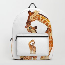 Mother and child giraffes Backpack