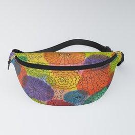 Rainbow Flowers Fanny Pack