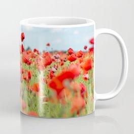 Field with red papavers Coffee Mug