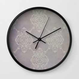 Vintage Damask - Violet Wall Clock