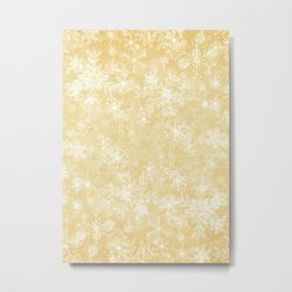 Gold Snowflakes Metal Print