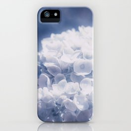 Grace and Beauty Defined a blue Hydrangea flower iPhone Case