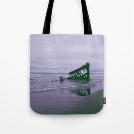 Shipwreck at Fort Stevens state park Oregon Tote Bag